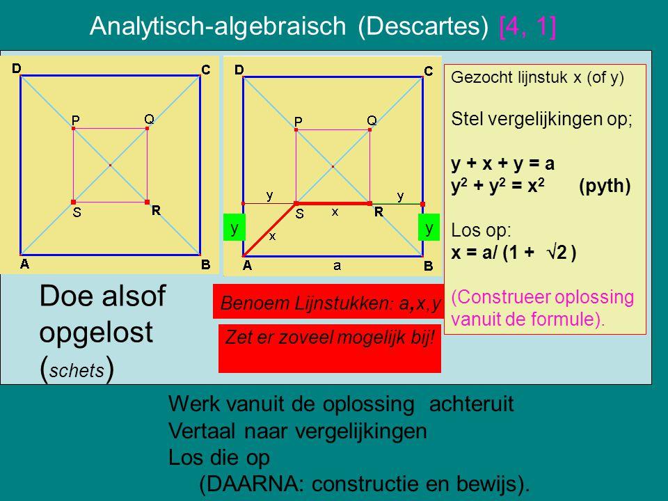 Analytisch-algebraisch (Descartes) [4, 1]